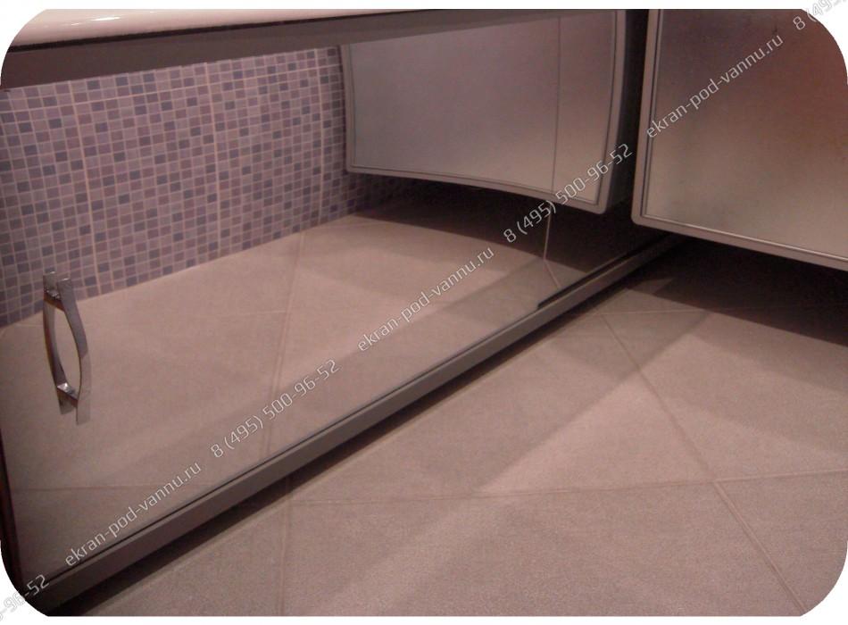 Стеклянный экран для ванной своими руками 44